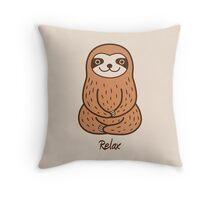 Cute Little Sloth Throw Pillow