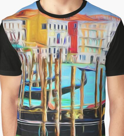 Italian Gondola in the Grand Canal of Venice Graphic T-Shirt