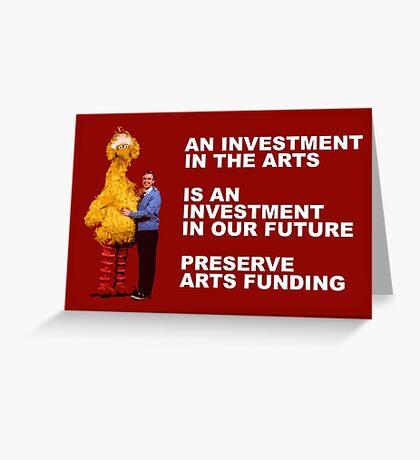 Preserve Arts Funding Greeting Card