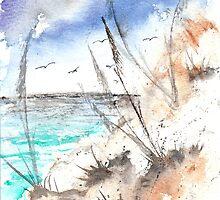 Dunes 4 surf fine modern art by derekmccrea
