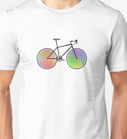 Rainbow Road bike wheels Unisex T-Shirt