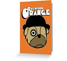 Pugwork Orange Greeting Card