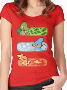 Pokemon / Hoenn Starters - Omega Ruby Women's Fitted Scoop T-Shirt