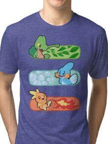 Pokemon / Hoenn Starters - Omega Ruby Tri-blend T-Shirt