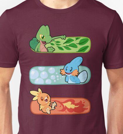 Pokemon / Hoenn Starters - Omega Ruby Unisex T-Shirt
