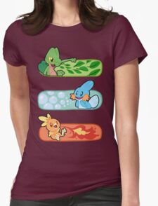 Pokemon / Hoenn Starters - Omega Ruby Womens Fitted T-Shirt
