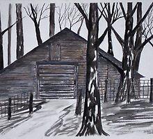 Country Barn by derekmccrea