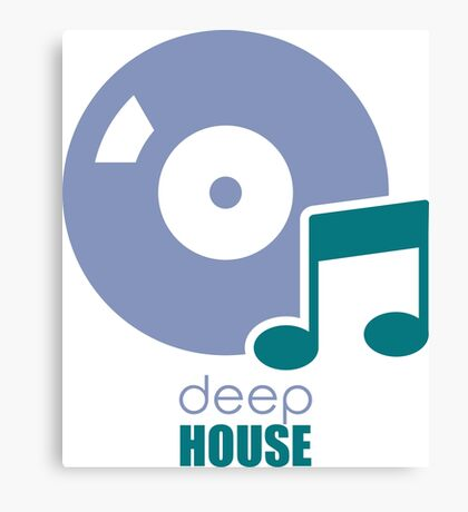 Deep House Music DJ Love the Deejay Beats Canvas Print