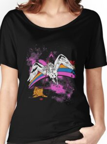 Unicorn Playing with Kitten in Space! Women's Relaxed Fit T-Shirt