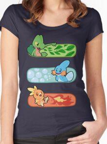 Pokemon / Hoenn Starters - Alpha Sapphire Women's Fitted Scoop T-Shirt