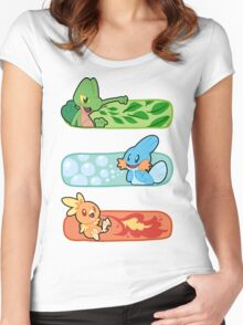 Pokemon / Hoenn Starters - Alpha Sapphire Women's Fitted Scoop T-Shirt