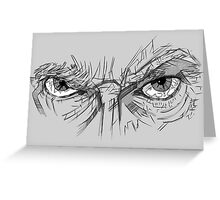Doctor Who - Peter Capaldi Eyes - No Sir, All 13 Greeting Card