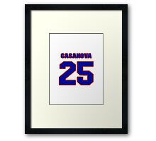National baseball player Raul Casanova jersey 25 Framed Print