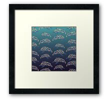 Abstract Dolphin Framed Print