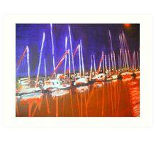 Manly Marina  Art Print