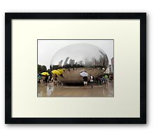 Chicago Tourists in the Rain Framed Print