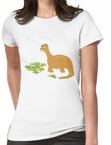 Cute dino too Womens Fitted T-Shirt