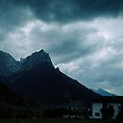 Village and mountain at Athesnia Italy 19840809 0009 by Fred Mitchell