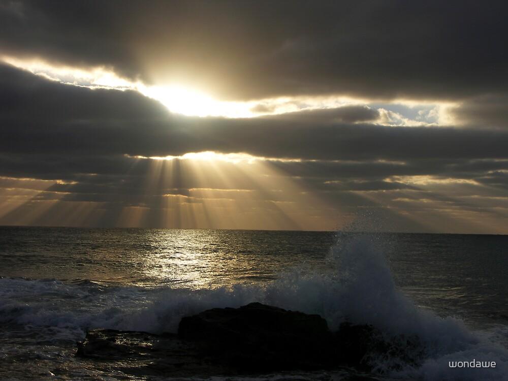 Sunburst with wave by wondawe