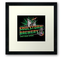 Greetings From Soulstorm brewery Framed Print