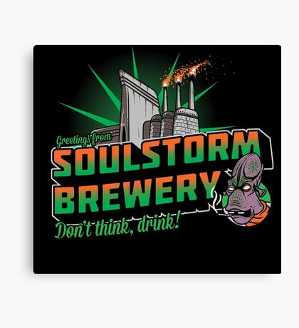 Greetings From Soulstorm brewery Canvas Print