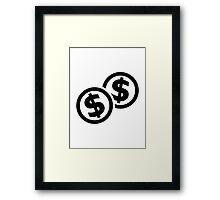 Dollar coins Framed Print