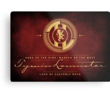 Tywin Lannister Monogram Logo Metal Print