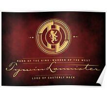 Tywin Lannister Monogram Logo Poster