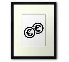 Euro coins Framed Print