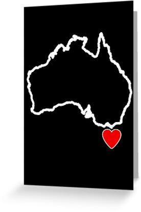 I Love Tasmania Map by Anny Arden