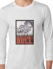 RAGING BULL hand drawn movie poster in pencil Long Sleeve T-Shirt