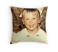 Bow in Her Hair Throw Pillow