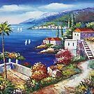 Blooming Mediterranean II Oil Paintings by LesMoments Oil Painting
