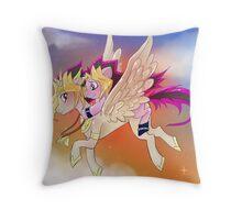 Yu-Gi-Oh!+My little pony sunset Throw Pillow