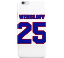 National baseball player Butch Wensloff jersey 25 iPhone Case/Skin