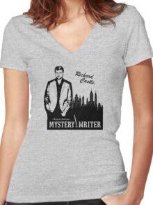 Richard Castle, Mystery Writer Women's Fitted V-Neck T-Shirt