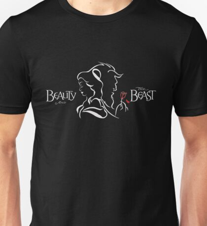 Beauty and The Beast (White) Unisex T-Shirt