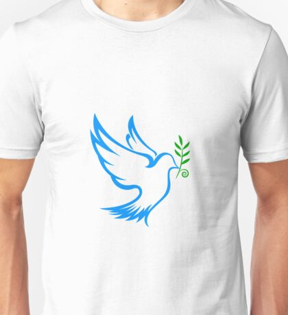 dove symbol draw Unisex T-Shirt