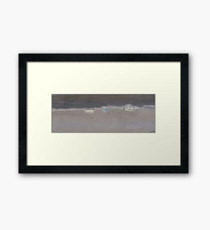 boats afloat Framed Print