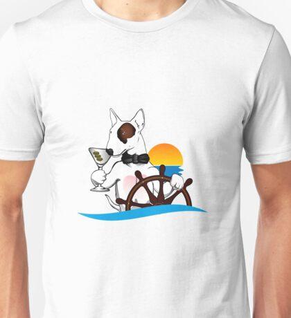 Elegant Bull terrier with helm Unisex T-Shirt