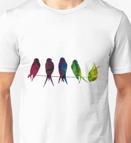 7 Birds on a line - edit Unisex T-Shirt