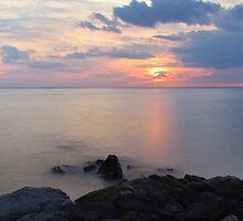Sandy Hook Sunset by EkaterinaLa