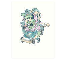 Death Race Art Print
