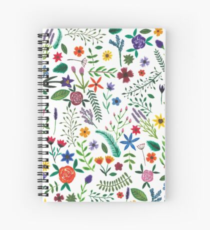 Watercolour floral pattern Spiral Notebook