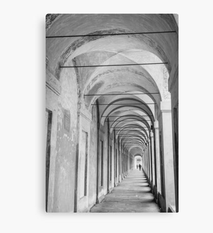 Inside the Portico Canvas Print