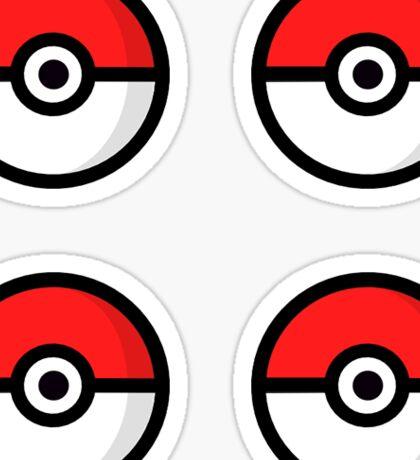 Multi Pokeball Design Sticker
