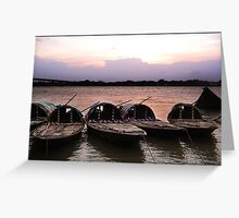 Boats.... Greeting Card