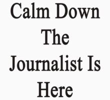 Calm Down The Journalist Is Here  by supernova23