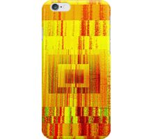 Stained Glass Squares 2-Orange iPhone Case/Skin