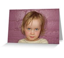 little blue eyed girl... Greeting Card